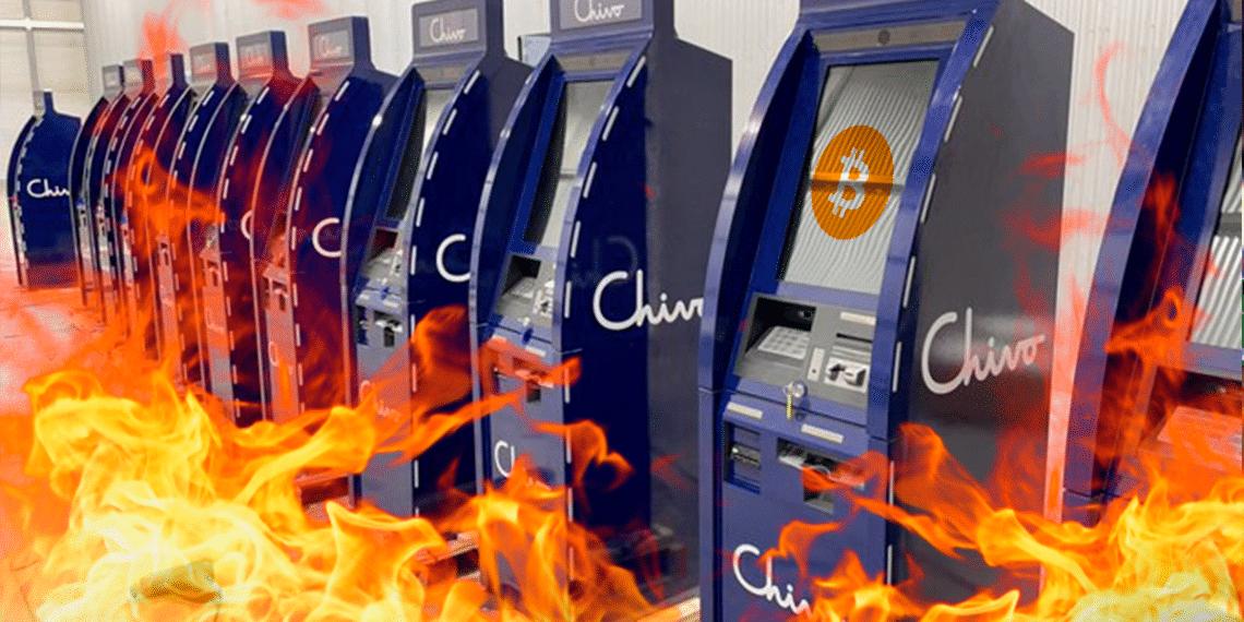 Cajeros de BTC Chivo en llamas.