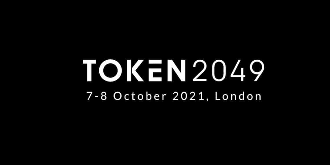 Pancarta promocional del evento Token2049