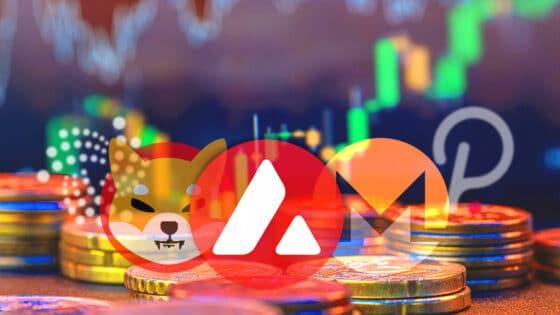 Avalanche y Shiba Inu de primeras en el top semanal: el mercado tiende a la baja