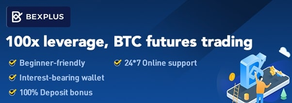 Bexplus 100x Leveraged Trading Promotional Banner