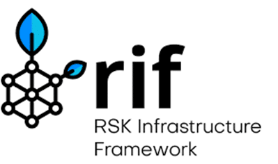Logo de RIF, tercera capa de la blockchain RSK