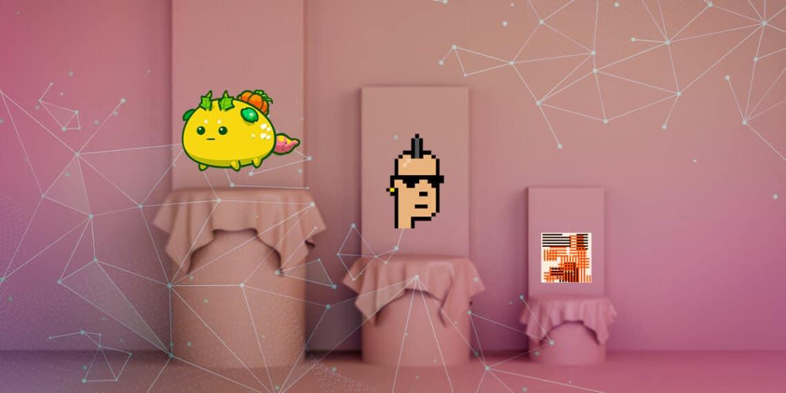 Axies, CryptoPunks y Art Blocks.