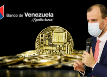 Criptomonedas, Maniglia y logo de Banco de Venezuela.