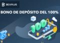 Pancarta promocional del bono de depósito de bexplus
