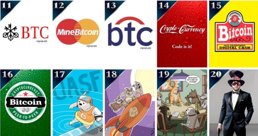 Bitcoin cobra protagonismo entre las piezas que Christie´s ha seleccionado del proyecto Curio Cards. Fuente: Christie´s.com
