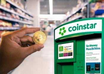 Comprar bitcoin en el supermercado ya es una realidad en los Walmart de Estados Unidos. Composición por CriptoNoticias. Fuentes: fasci /  elements.envato.com  ;  ArtRachen  /  elements.envato.com.