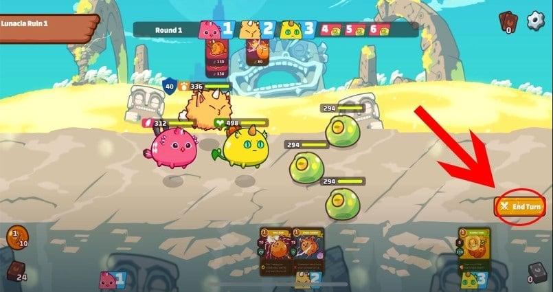 Realizar ataques en Axie Infinity - cómo jugar