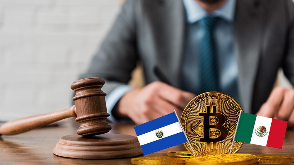 Esta semana, hubo diversas noticias sobre bitcoin y criptomonedas en El Salvador y México. Composición por CriptoNoticias. aranjuezmedina / freepik.com; kjekol / elements.envato.com; aranjuezmedina / freepik.com; LightFieldStudios / elements.envato.com.