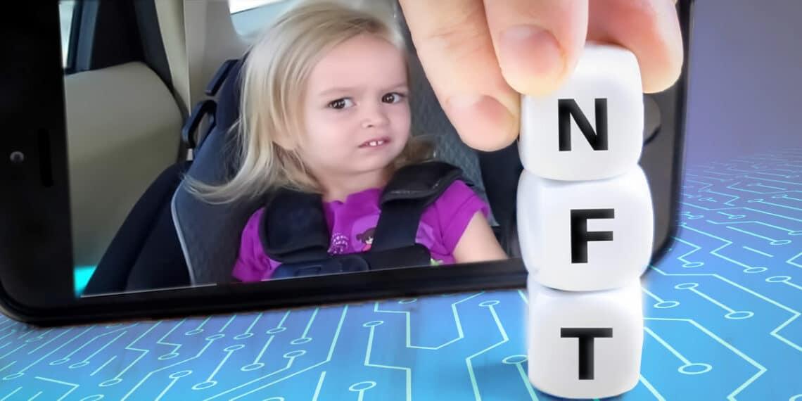 Chloe meme, con letras de NFT.