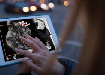 Frank Miller lanzó un conjunto de NFT basados en la franquicia Sin City. Composición por CriptoNoticias. Fuentes:  Grey_Coast_Media  /  elements.envato.com  ;  twitter.com .