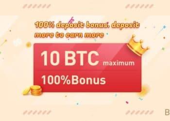 Pancarta promocional de bono del 100% de Bexplus