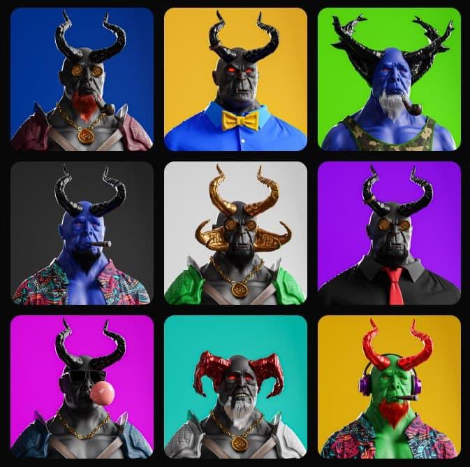 Colección de NFTs de Degens Demons