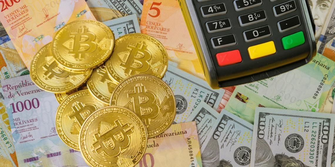 Bolívares, dólares y pago en BTC.